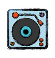 dj turntable icon vector image vector image