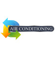 environmental air conditioning symbol for business vector image vector image