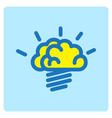 flat color brain icon vector image vector image