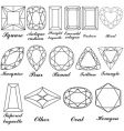 gemstone shapes vector image vector image