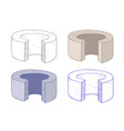 geometric shape ring with cut out section hand vector image vector image