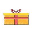gift box symbol vector image vector image