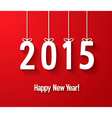Happy new year 2015 creative paper greeting card vector image vector image