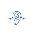 Hearing test line icon concept hearing test flat