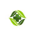 herbal medicine logo design template vector image vector image