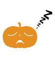 isolated halloween pumkin vector image