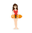 lifeguard woman vector image