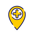location icon with add sign vector image