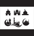 mosque icon set mosque icon icons vector image vector image
