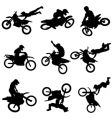 Motocross silhouettes vector | Price: 1 Credit (USD $1)