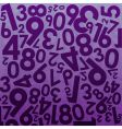 numeral background vector image vector image