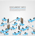 office room it development vector image