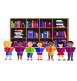 Other Children Read Books in Library vector image