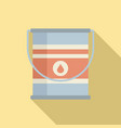 paint metal bucket icon flat style vector image vector image