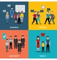 People social behavior patterns vector image vector image
