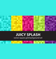 pixel pattern set juicy splash seamless pixel vector image vector image