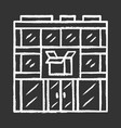 post office building chalk icon postal warehouse vector image vector image