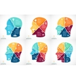 puzzle human face infographic Cycle vector image