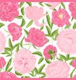 romantic seamless pattern with gorgeous blooming vector image vector image