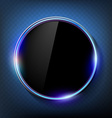 round black screen on a blue background vector image