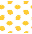 seamless pattern with lemon in flat style vector image