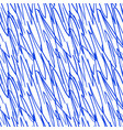 seamless pattern with the handwritten blue lines vector image vector image