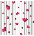 Seamless with hand-drawn hearts and grey stripes vector image vector image