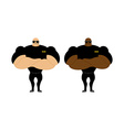 Security Guards nightclub Two bodybuilder guarding vector image vector image