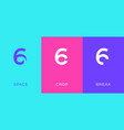 set number 6 minimal logo icon design template vector image vector image