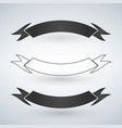 set of black and white ribbons flat design vector image vector image
