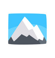 snowy rocky mountains and blue sky beautiful vector image