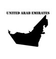 symbol of isle of united arab emirates and map vector image vector image
