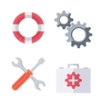 Technical support symbols vector image vector image