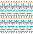 tribal seamless pattern with doodle elements hand vector image vector image