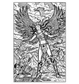 valkyrie north mythology maiden engraved vector image