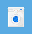 washing machine in a flat style vector image vector image