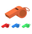 whistle design vector image vector image