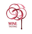 wine tasting card design watercolor logo for vector image vector image