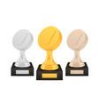 winner hockey awards set gold silver bronze vector image vector image