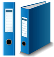 Blue binder vector image