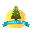 christmas sale abstract tree logo vector image