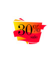 30 off sale discount banner discount offer price vector image