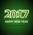 2017 Happy New Year on dark green background vector image vector image