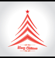 Abstract background Christmas tree with text vector image
