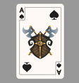 Ace of Spades playing card vector image vector image