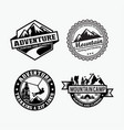 adventure logo badges 4 vector image vector image