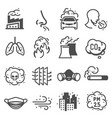 air pollution control engineering icons vector image vector image