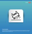 ambulance crash icon - blue sticker button vector image vector image