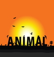 animal nature color vector image vector image