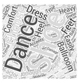 Ballroom Dance Clothing and Shoes Word Cloud vector image vector image